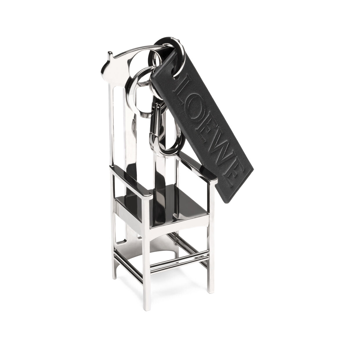 LOEWE Chair Charm Palladium/Black front