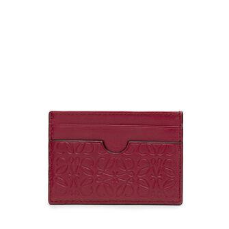 LOEWE Plain Card Holder Raspberry front