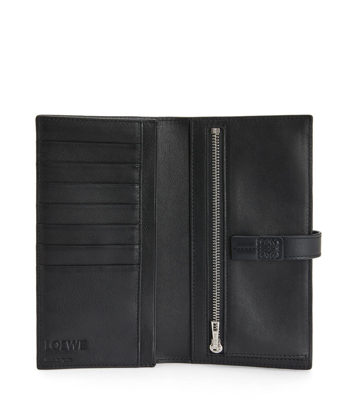LOEWE Large Vertical Wallet Black front