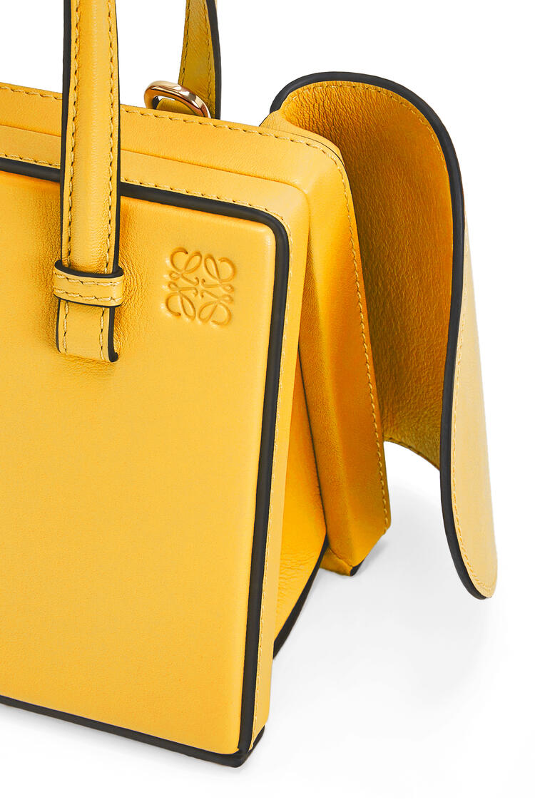 LOEWE Small Postal Wings Bag In Classic Calfskin Yellow Mango pdp_rd