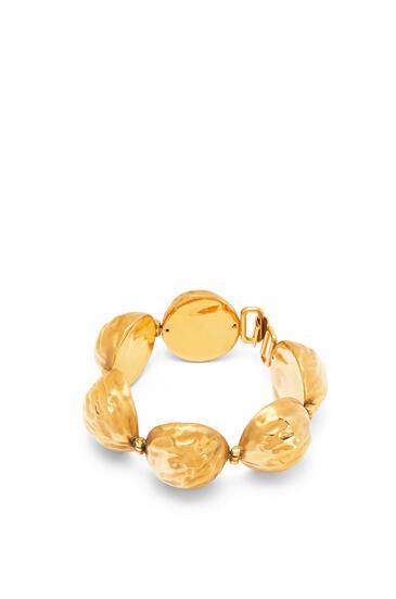 LOEWE Bracelet in hammered metal Gold pdp_rd