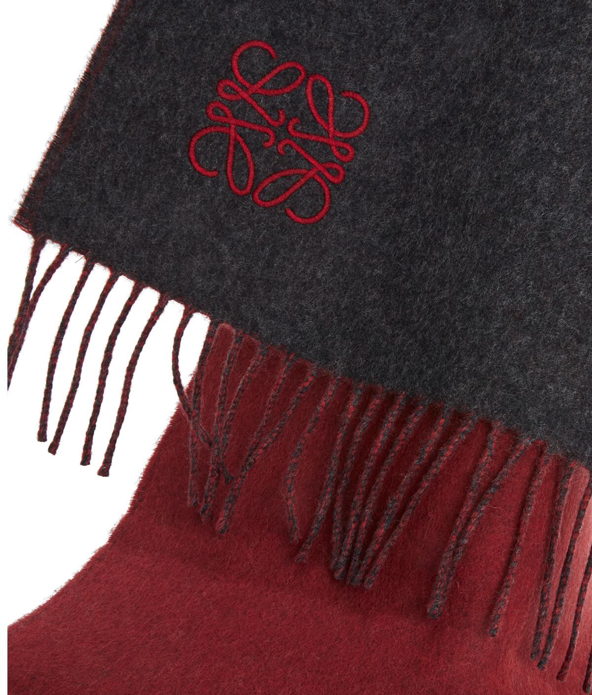 LOEWE 30X180 アナグラム スカーフ Grey/Red front
