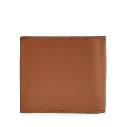 LOEWE Brand Bifold Coin Wallet Cognac front