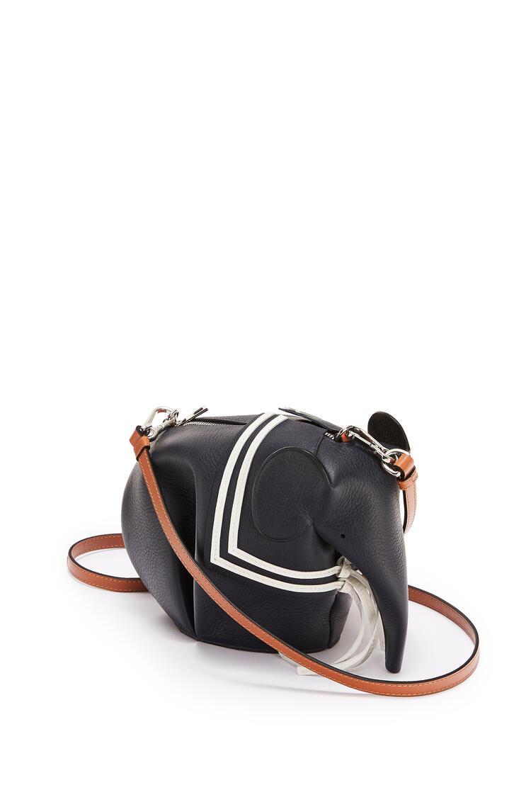 LOEWE Mini sailor Elephant bag in classic calfskin Deep Blue pdp_rd