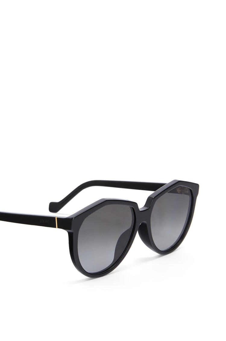 LOEWE Oversized Sunglasses in acetate Black pdp_rd