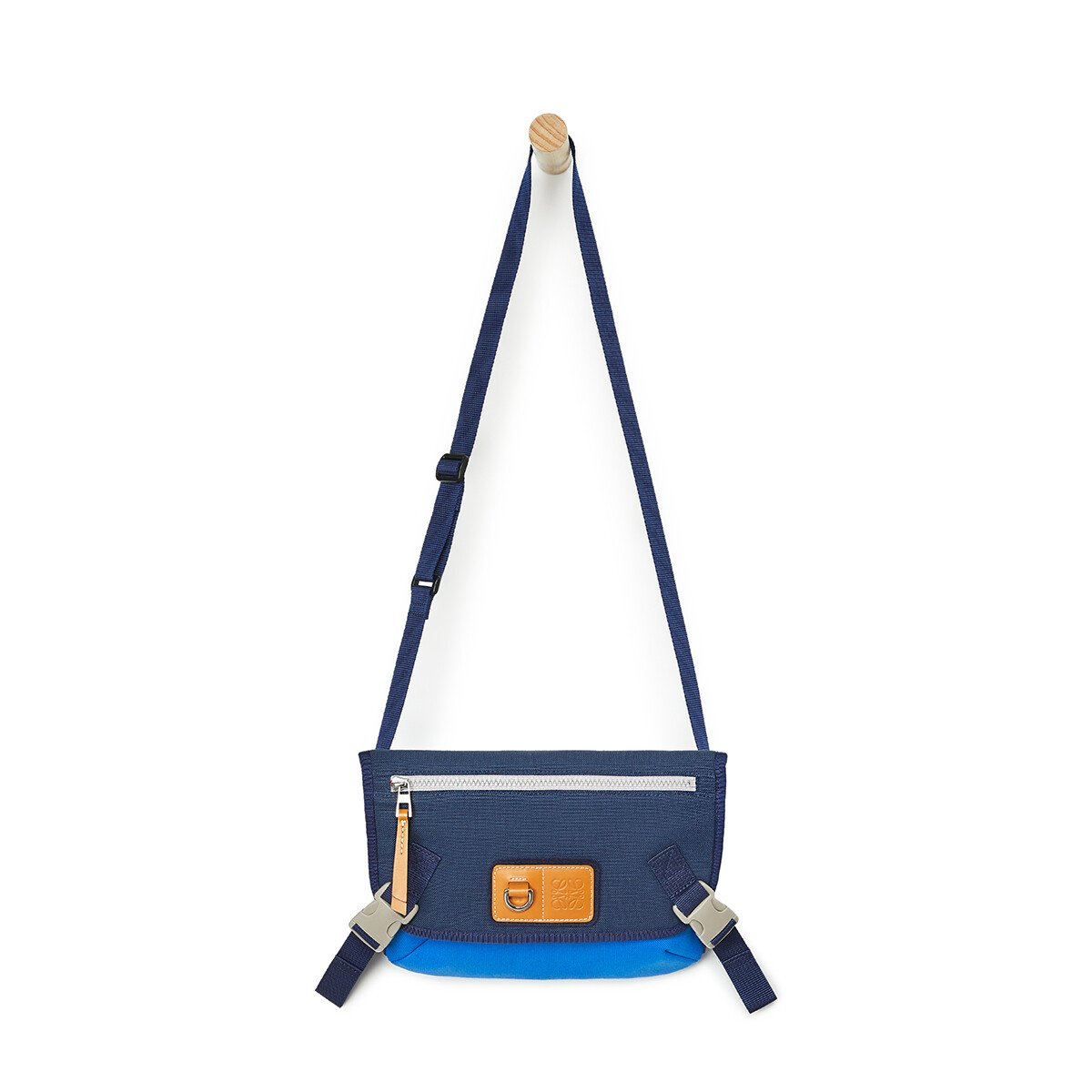 LOEWE Eye/Loewe/Nature Messenger Small Bag Electric Blue/Navy Blue front