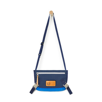 "LOEWE 小号""EYE""自然邮差包 Electric Blue/Navy Blue front"
