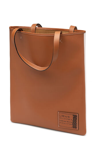 LOEWE Vertical Tote Blackthorn Bag Soft White/Tan front
