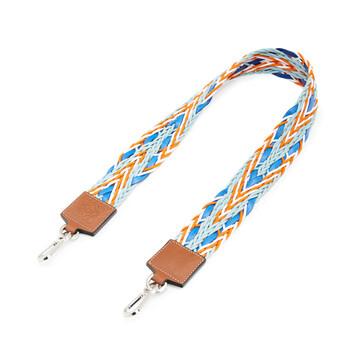 LOEWE Paula´S Elastic Woven Strap 蓝色/橙色 front