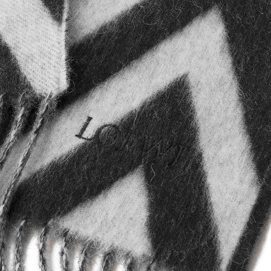 LOEWE 45X230 Scarf Herringbone 白色/黑色 front