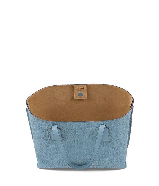 LOEWE T Shopper Bag 灰蓝色 front
