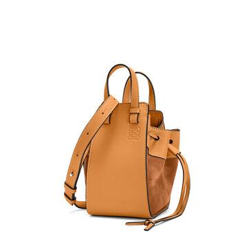 LOEWE Hammock Drawstring Mini Bag Honey front