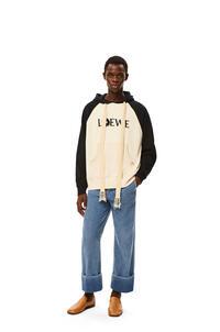 LOEWE Dust Bunnies hoodie in cotton Ecru/Black pdp_rd