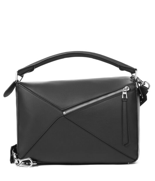 LOEWE Puzzle Large Bag 黑色 front