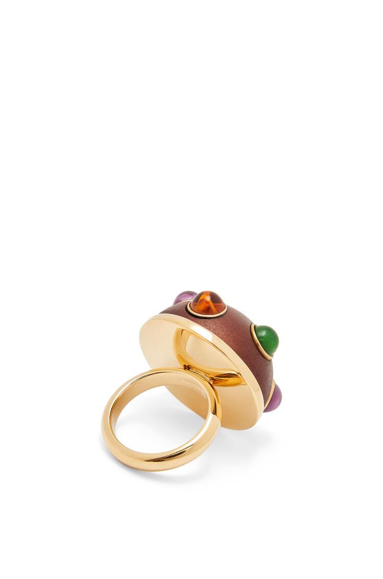 LOEWE Ring in metal and wood Black pdp_rd
