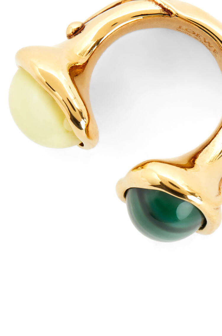 LOEWE Ring in metal Yellow/Green pdp_rd