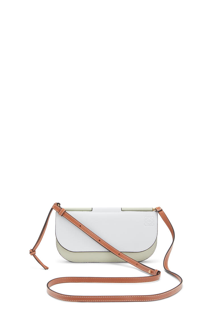 LOEWE Gate Pochette In Smooth Calfskin Kaolin/Sage pdp_rd