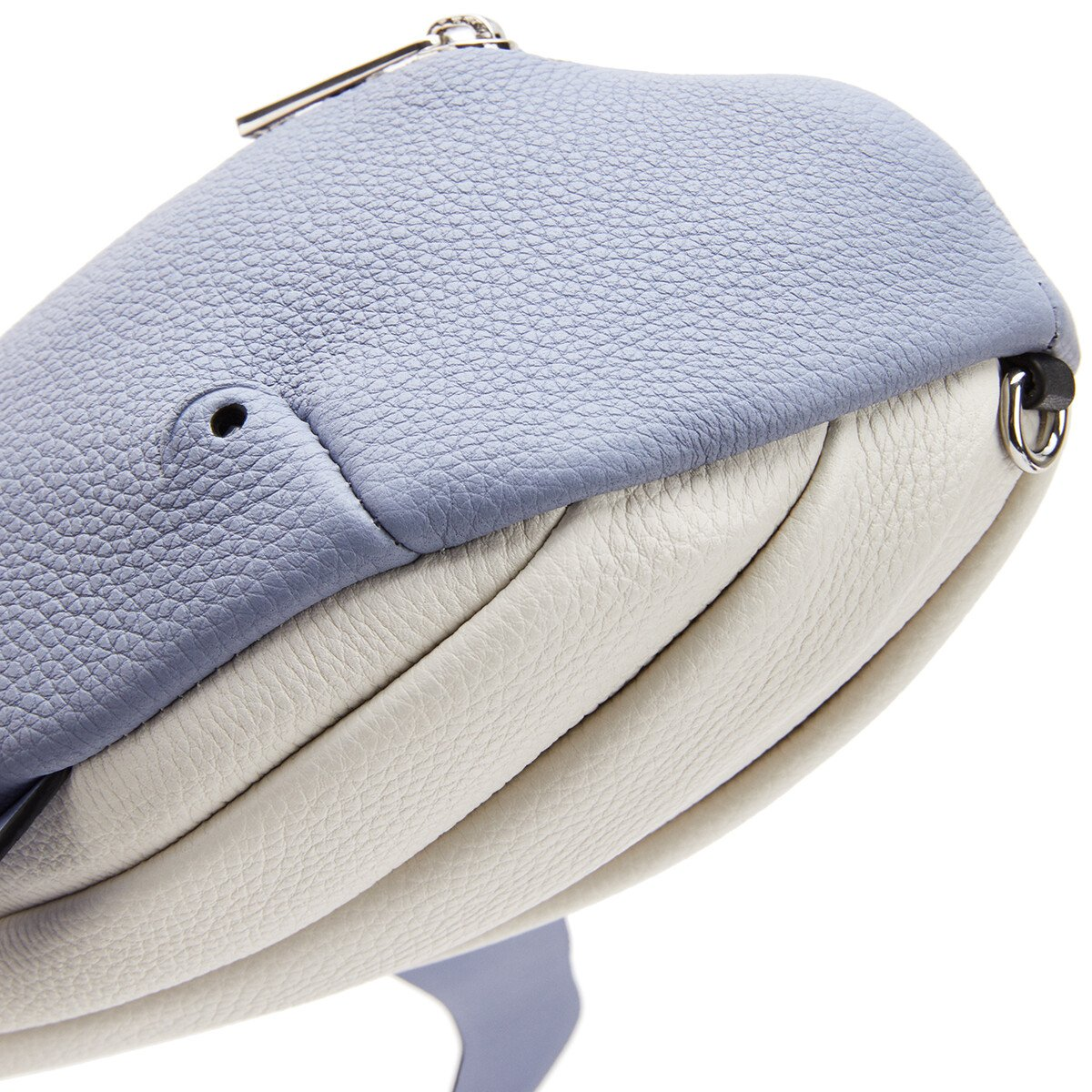 LOEWE Whale Crossbody Bag In Soft Grained Calfskin Blueberry/Soft White front