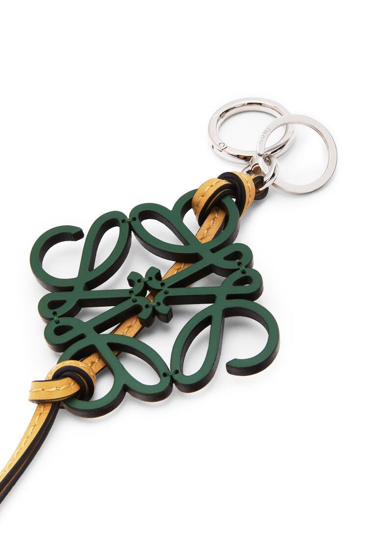 LOEWE Anagram charm in calfskin Green/Honey pdp_rd