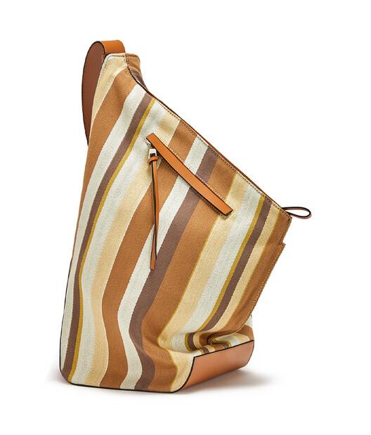 LOEWE 小号条纹ANTON手袋 Honey/Multicolor front