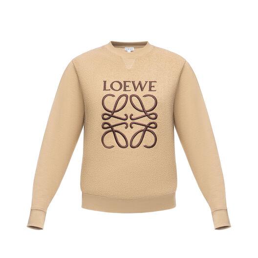 LOEWE Anagram Sweatshirt Beige front