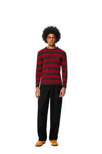 LOEWE Jersey en lana y alpaca con Anagrama bordado Rojo/Gris pdp_rd