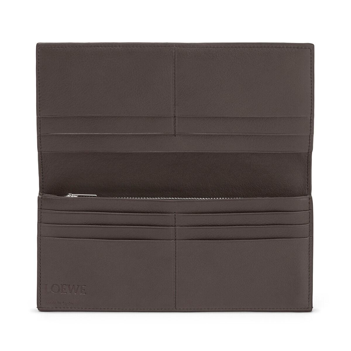 LOEWE Long Horizontal Wallet Khaki Green/Pecan Color all