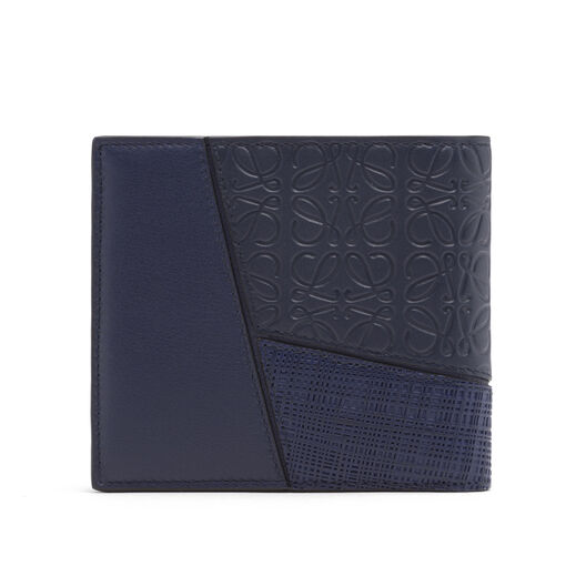 LOEWE Puzzle Bifold Wallet Navy Blue all