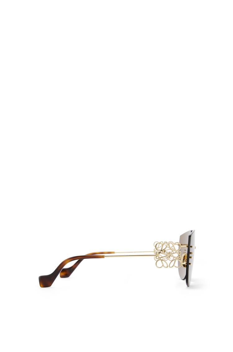 LOEWE Rimless mask Anagram sunglasses Brown/Gold pdp_rd
