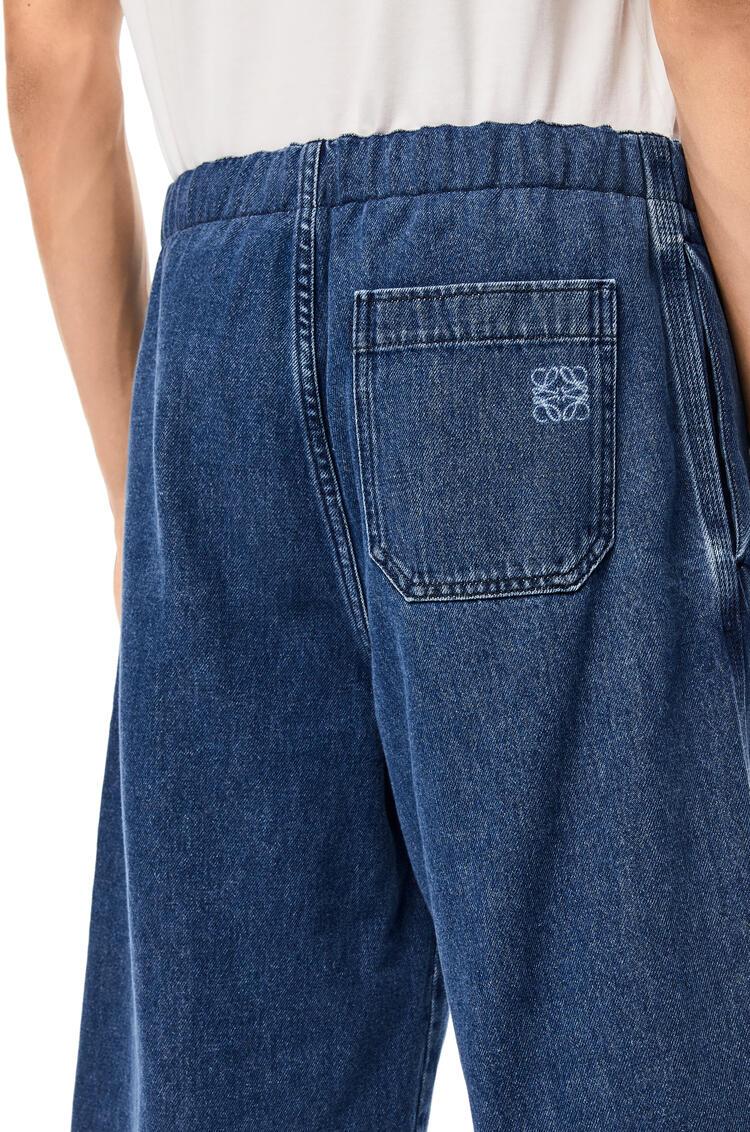 LOEWE 斜纹抽绳短裤 蓝色 pdp_rd