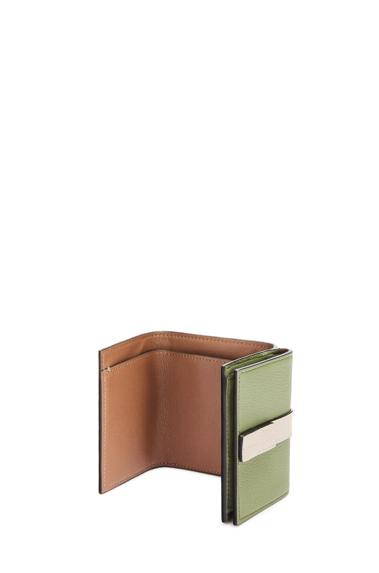 LOEWE Trifold wallet in soft grained calfskin Avocado Green/Sand pdp_rd