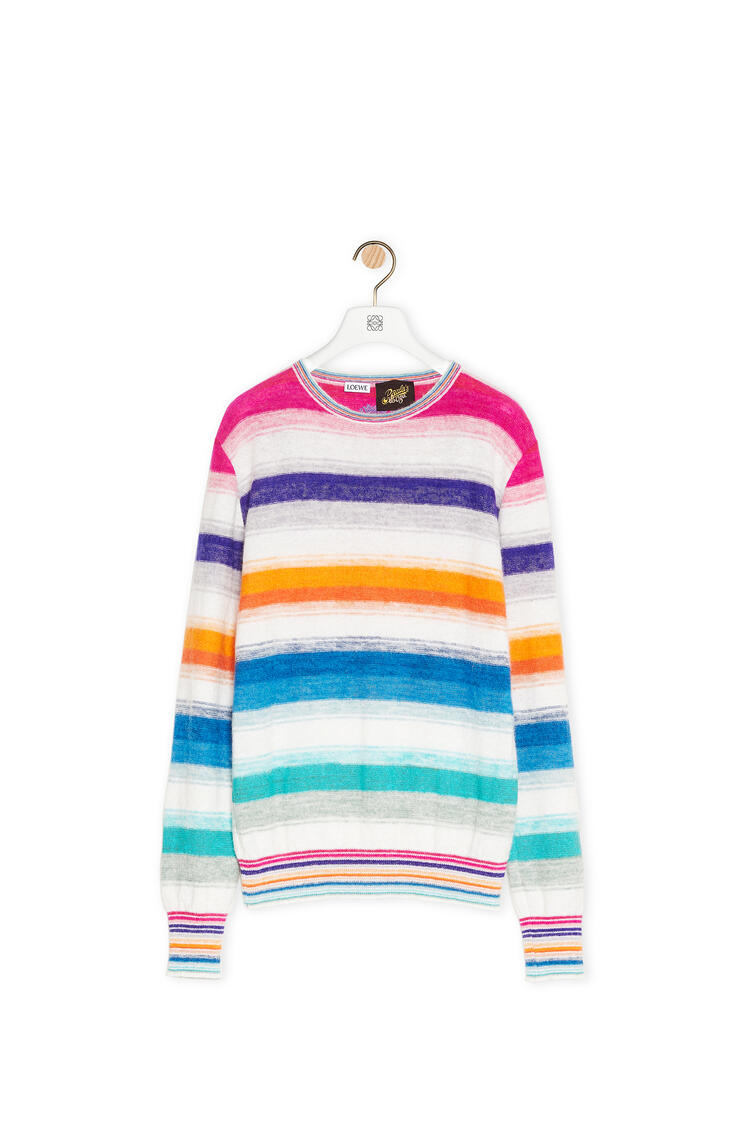 LOEWE Sweater in striped cotton Multicolor/White pdp_rd