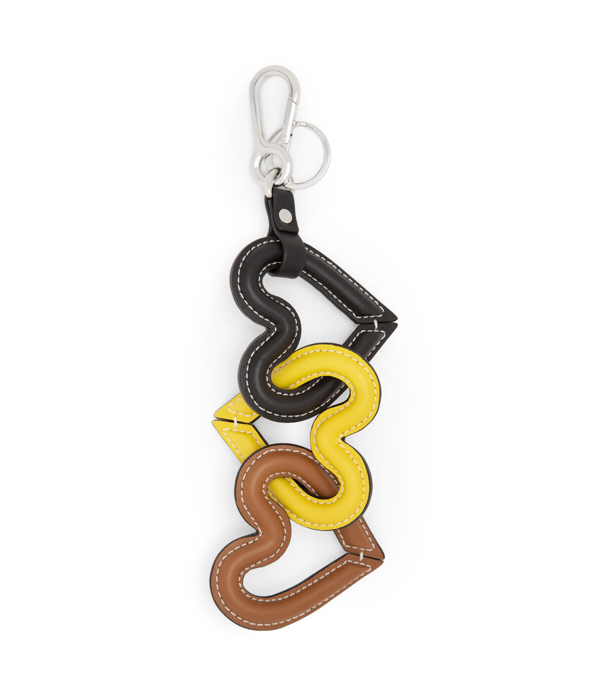LOEWE Heart Chain Charm Yellow/Multicolour front