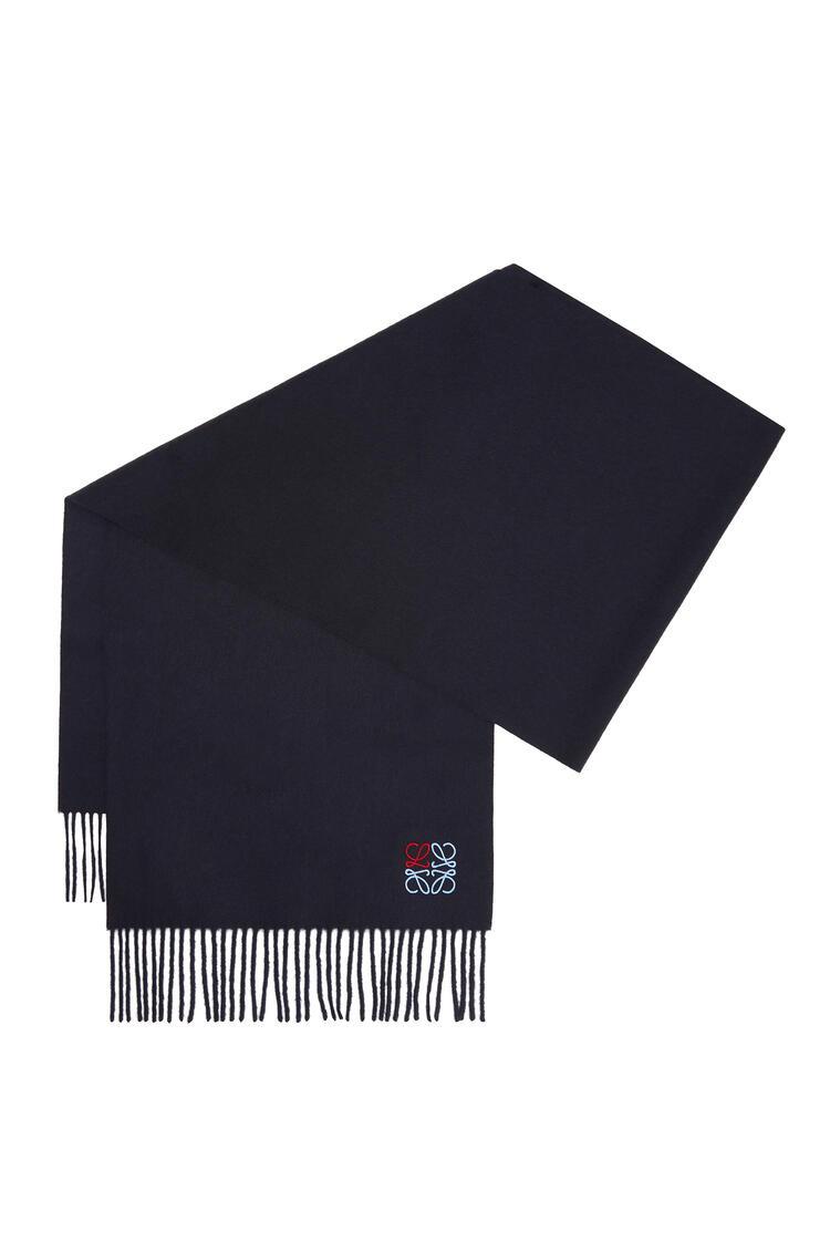LOEWE 35 x 170 cm ロエベ アナグラム スカーフ(カシミヤ) ネイビーブルー pdp_rd