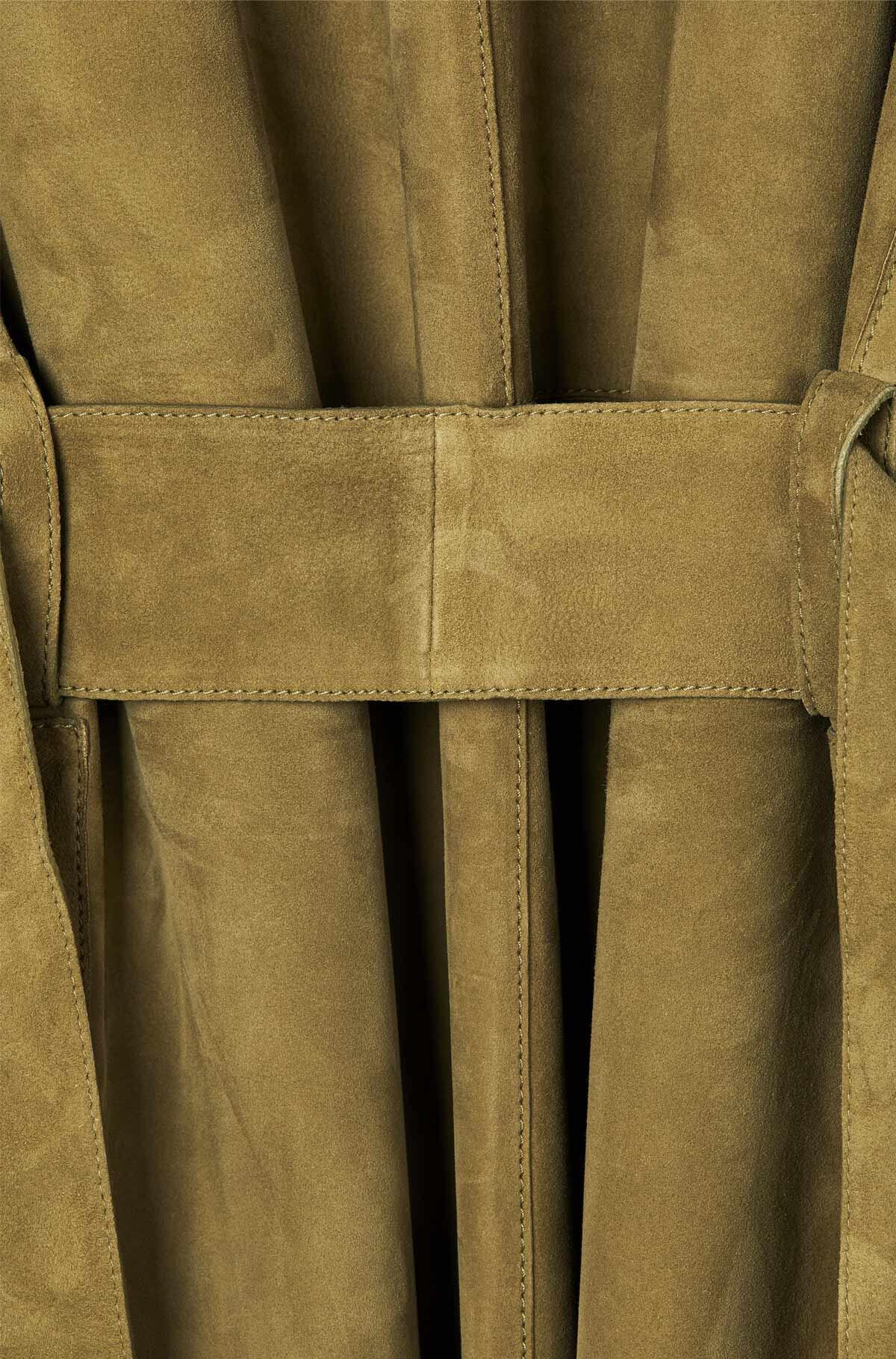 LOEWE Abrigo Verde Kaki front