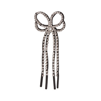LOEWE Strass Laced Earring Black front