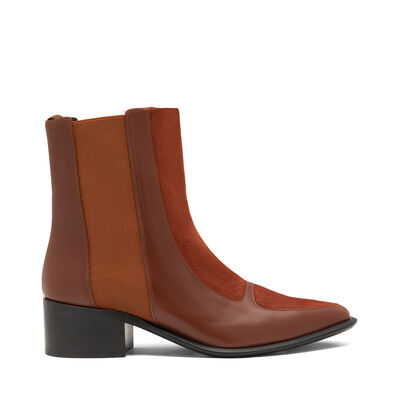 LOEWE Chelsea Boot 40 Brick Red front