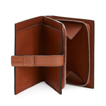 LOEWE Compact Zip Wallet Steel Blue/Tan front