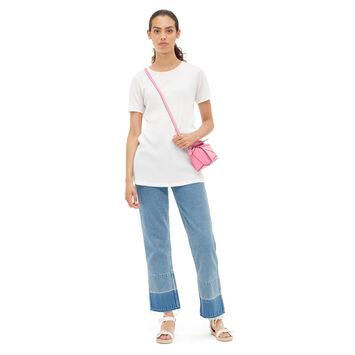 LOEWE クルーネックリブジャージTシャツ ホワイト front
