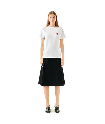 LOEWE Oversize Button Skirt Black front