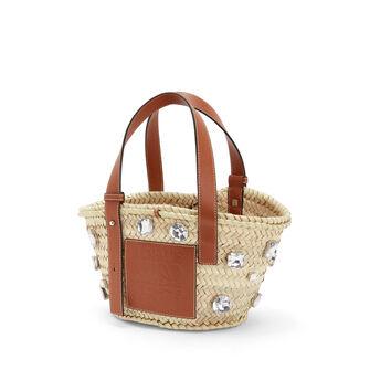 LOEWE Basket Stones Small Bag Natural/Tan front