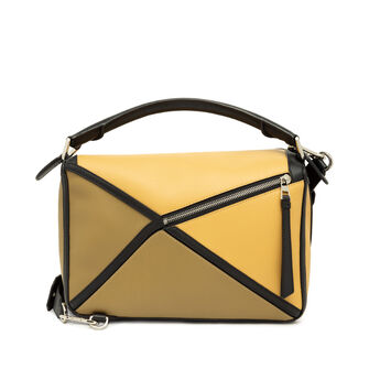 LOEWE Puzzle Graphic Bag Cereal/Leaf front