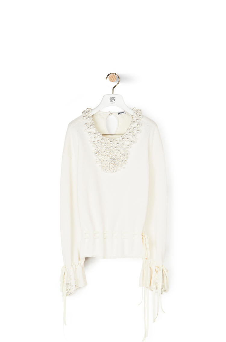 LOEWE Sweater pearls in hemp Off-white pdp_rd