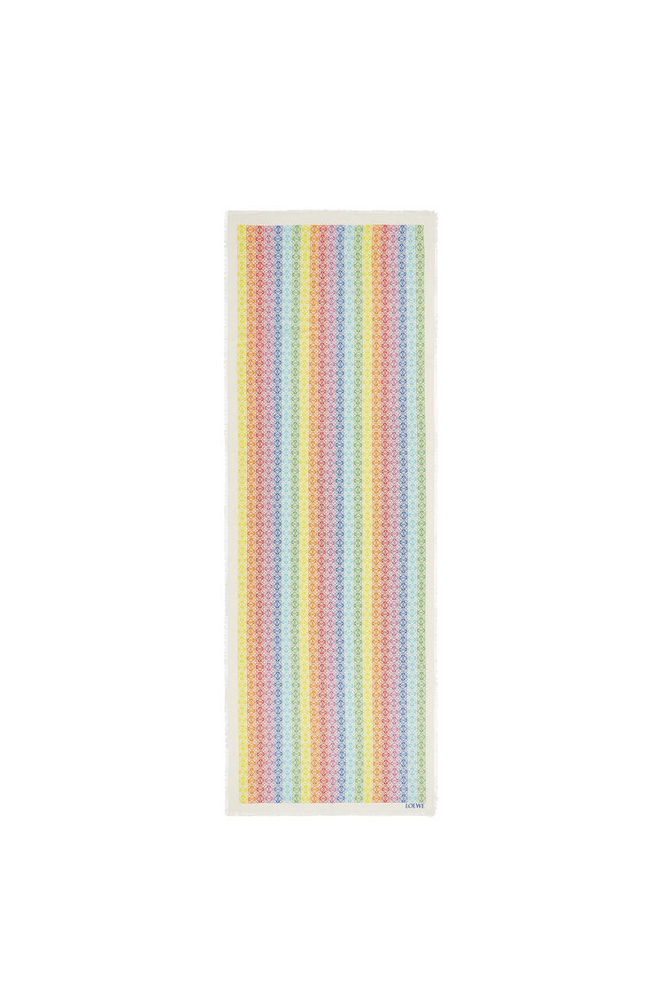 LOEWE 70 x 200 cm LOEWE anagram scarf in wool and cashemere White/Multicolor pdp_rd