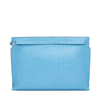 LOEWE T Pouch Repeat Azul Celeste front