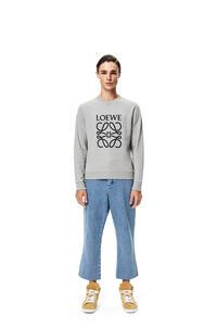 LOEWE Anagram embroidered sweatshirt in cotton Grey pdp_rd