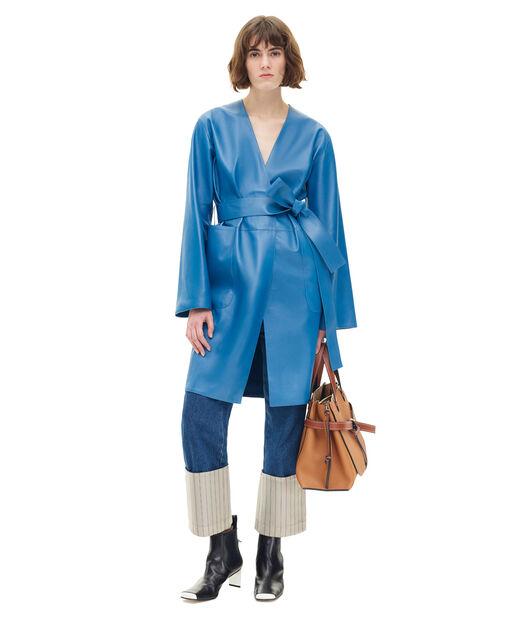 LOEWE コート ブルー all