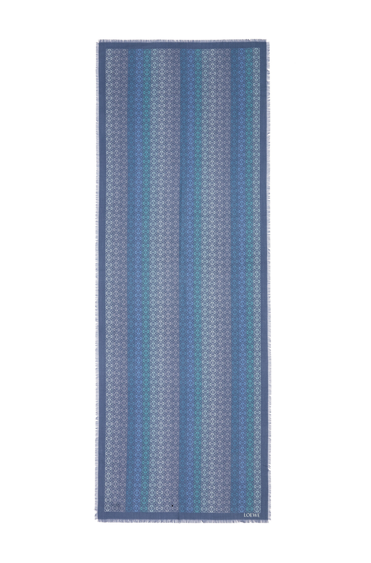 LOEWE 70X200  Anagram Scarf Grey Blue front