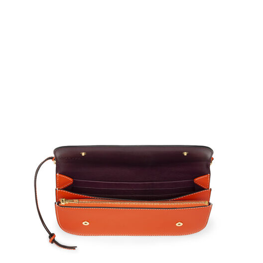 LOEWE Gate Pochette Orange/Oxblood all