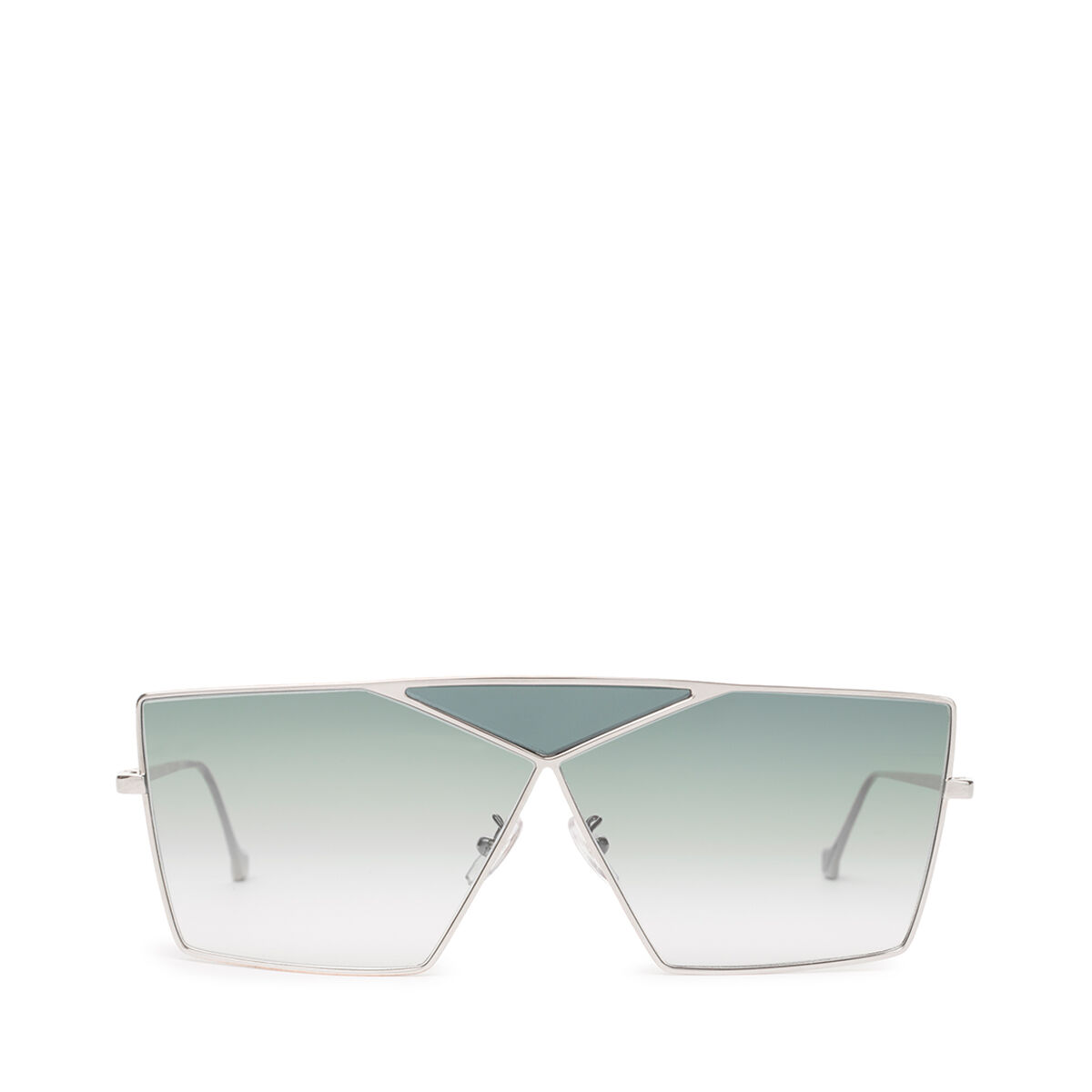 LOEWE Square Puzzle Sunglasses Pale Gold/Gradient Turquoise front
